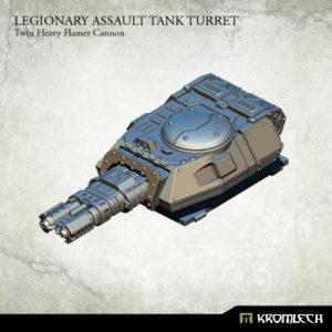 Kromlech   Legionary Conversion Parts Legionary Assault Tank Turret: Twin Heavy Flamer Cannon - KRVB043 - 5902216116443
