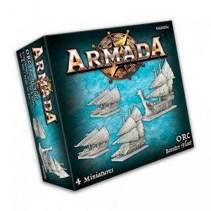 Mantic Kings of War Armada  Orcs Orc Booster Fleet - MGARO102 - 5060469666532