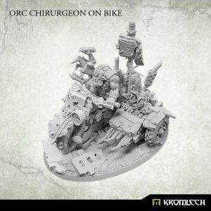 Kromlech   Orc Model Kits Orc Chirurgeon on bike (1) - KRM131 - 5902216115644