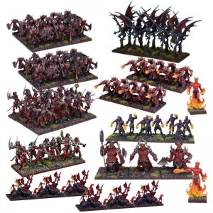 Mantic Kings of War  Forces of the Abyss Forces of the Abyss Mega Army - MGKWA109 - 5060469661346