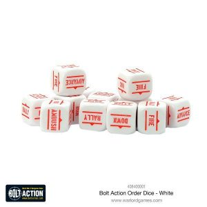 Warlord Games Bolt Action  Bolt Action Books & Accessories Bolt Action Orders Dice - White (12) - 408400001 - 5060393709060