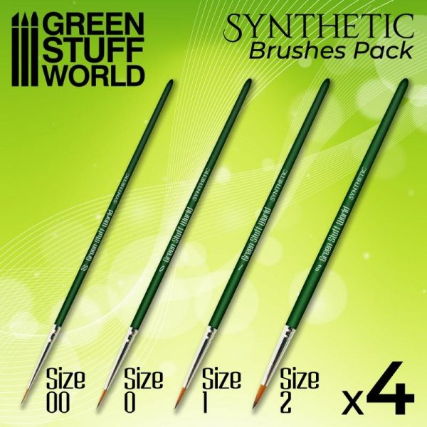 Green Stuff World   Synthetic Brushes GREEN SERIES Synthetic Brush Set - 8436574506914ES - 8436574506914