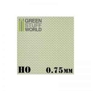 Green Stuff World   Plasticard ABS Plasticard - Thread DIAMOND HO 0.75mm Textured Sheet - 8436574500066ES - 8436574500066
