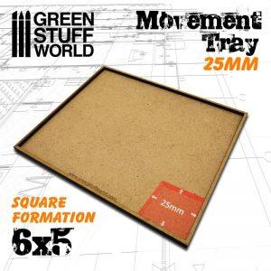 Green Stuff World   Movement Trays MDF Movement Trays 25mm 6x5 - 8436574502947ES - 8436574502947