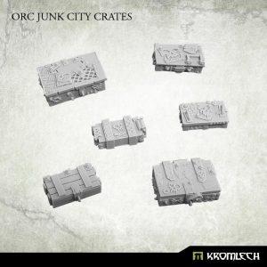 Kromlech   Junk City Bases Orc Junk City Crates (6) - KRBK014 - 5902216114920