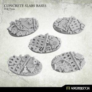 Kromlech   Concrete Slabs Bases Concrete Slabs Oval 75mm (5) - KRRB058 -
