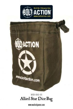 Warlord Games (Direct) Bolt Action  Dice Accessories Bolt Action Allied Star Dice Bag - WGB-BAG-05 -