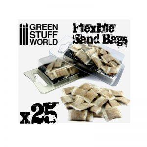 Green Stuff World   Green Stuff World Terrain flexible SANDBAGS x25 - 8436554367146ES - 8436554367146