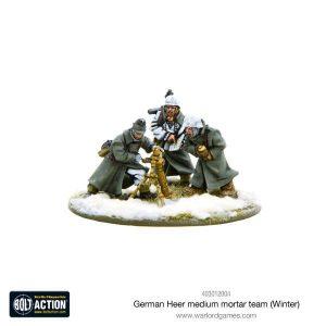 Warlord Games Bolt Action  Germany (BA) German Heer Medium Mortar team (Winter) - 403012004 - 5060393705482