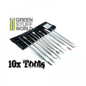 Green Stuff World   Green Stuff World Tools 10x Sculpting Tools - 8436554360123ES - 8436554360123