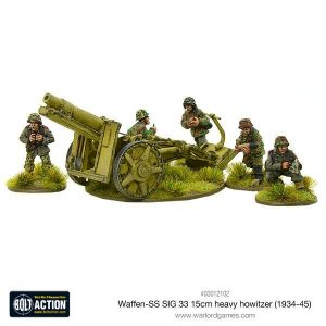 Warlord Games Bolt Action  Germany (BA) Waffen-SS SIG 33 15cm heavy howitzer (1943-45) - 403012102 - 5060393708162