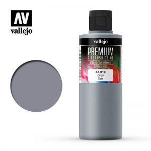 Vallejo   Premium Airbrush Colour AV Vallejo Premium Color - 200ml - Opaque Grey - VAL63019 - 8429551630191