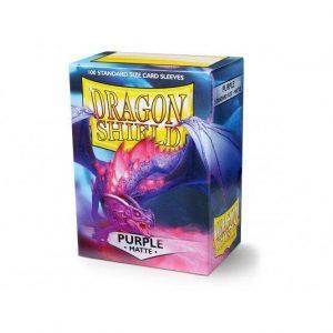 Dragon Shield   Dragon Shield Dragon Shield Sleeves Matte Purple (100) - DS100MPU - 5706569110093