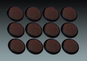 Baker Bases   Small Tiles Small Tiles: 30mm Round Bases (Lipped) (12) - CB-ST-03-30M - CB-ST-03-30M
