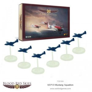 Warlord Games Blood Red Skies  Blood Red Skies Blood Red Skies: US P-51 Mustang Squadron - 772013001 - 5060393707059