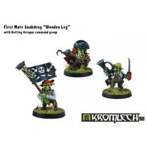 Kromlech   Orc Model Kits Goblin Pirates Command Group - KRM064 - 5902216112230