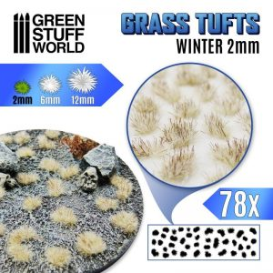 Green Stuff World   Tufts Grass TUFTS - 2mm self-adhesive - White Winter - 8435646504797ES -
