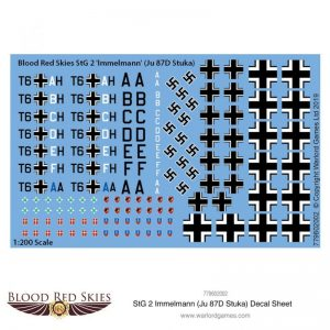Warlord Games (Direct) Blood Red Skies  Blood Red Skies Blood Red Skies: StG 2 Immelmann (Ju 87D Stuka) decal sheet - 779602002 - 779602002