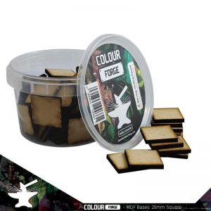 The Colour Forge   MDF Bases MDF Bases - 25mm Square (70) - TCF-MDF-25S - 5060843100430