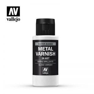 Vallejo   Metal Colour AV Vallejo Metal Color - Gloss Metal Varnish 60ml - VAL26657 - 8429551266574