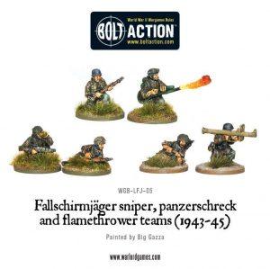 Warlord Games Bolt Action  Germany (BA) Fallschirmjager Weapons Teams - WGB-LFJ-05 - 5060200846360