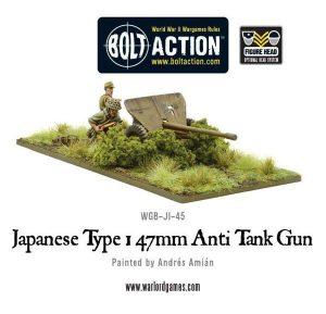 Warlord Games Bolt Action  Japan (BA) Imperial Japanese Type 47mm Anti Tank Gun - WGB-JI-45 - 5060393702351