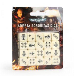 Games Workshop (Direct) Warhammer 40,000  Games Workshop Dice Adepta Sororitas Dice Set - 99220108005 - 5011921143962
