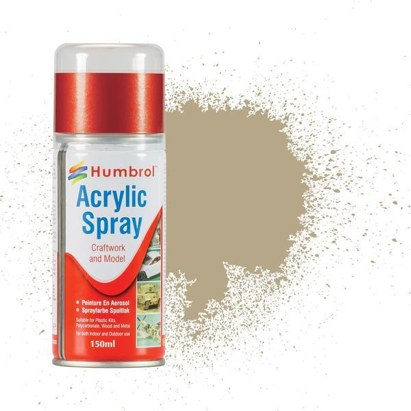 Humbrol   Spray Paint No 237 Desert Tan Matt - 150ml Acrylic Spray Paint - AD6237 - 5010279162373