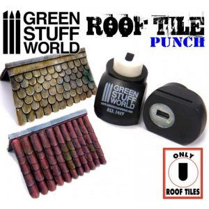 Green Stuff World   Stamps & Punches Miniature ROOF TILE Punch - 8436554364176ES - 8436554364176