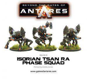 Warlord Games Beyond the Gates of Antares  SALE! Isorian Tsan Ra Phase Squad (3 Models) - WGA-ISO-10 - 5060393703952