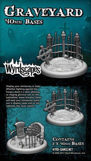 Wyrd   Graveyard Wyrdscapes Graveyard 40mm Bases - 2 Pack - WYRWS008 - 813856018583