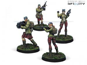 Corvus Belli Infinity  Ariadna Caledonian Volunteers (4) - 280190-0657 - 2801900006578