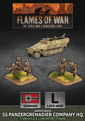 Battlefront Flames of War  SALE! German Armoured SS Panzergrenadier Company HQ - GBX138 - 9420020247048