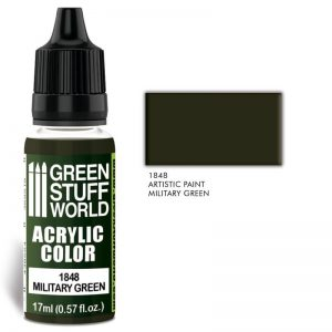 Green Stuff World   Acrylic Paints Acrylic Color MILITARY GREEN - 8436574502077ES - 8436574502077