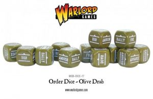 Warlord Games Bolt Action  Bolt Action Extras Bolt Action Orders Dice - Olive Drab (12) - WGB-DICE-17 - 5060393700654