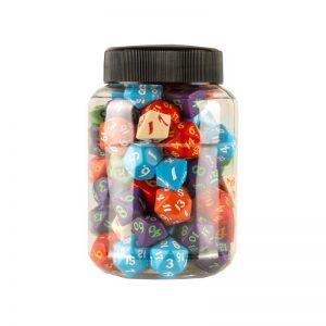 Q-Workshop   Classic RPG Round Jar of Classic RPG Dice (80) - JMIX07 - 5907699494064