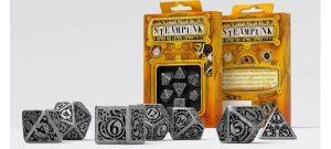Q-Workshop   Q-Workshop Dice Metal Steampunk Dice Set (7) - SMST35 - 5907699491827