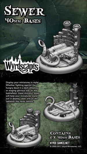 Wyrd   Sewer Bases Wyrdscapes Sewer 40mm Bases - 2 Pack - WYRWS005 - 813856018552
