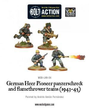 Warlord Games Bolt Action  Germany (BA) German Heer Pioneer, Panzerschrek & Flamethrower - WGB-LHR-04 - 5060200846100