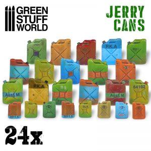 Green Stuff World   Green Stuff World Conversion Parts 24x Resin Jerry Cans - 8436574507218ES - 8436574507218