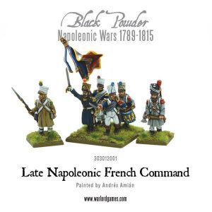 Warlord Games (Direct) Black Powder  French (Napoleonic) Late French Command - 303012001 - 5060393704195