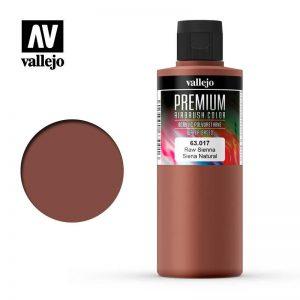 Vallejo   Premium Airbrush Colour AV Vallejo Premium Color - 200ml - Opaque Raw Sienna - VAL63017 - 8429551630177