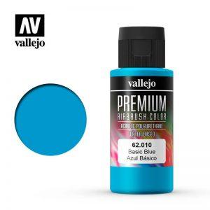 Vallejo   Premium Airbrush Colour Premium Color 60ml: Basic Blue - VAL62010 -