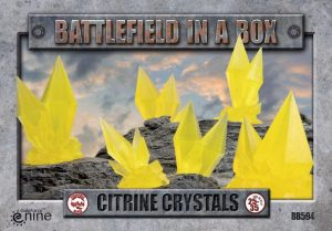 Gale Force Nine   Battlefield in a Box Battlefield in a Box: Citrine Crystals (Yellow) - BB594 - 9420020247864