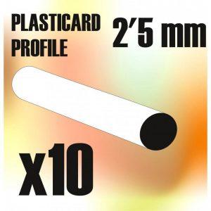 Green Stuff World   Plasticard ABS Plasticard - Profile ROD 2,5mm - 8436554367771ES - 8436554367771