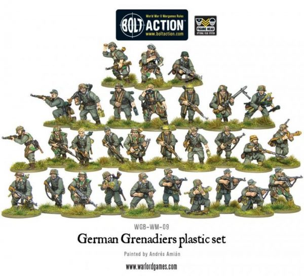 Warlord Games Bolt Action  Germany (BA) German Grenadiers - WGB-WM-09 - 5060393701804