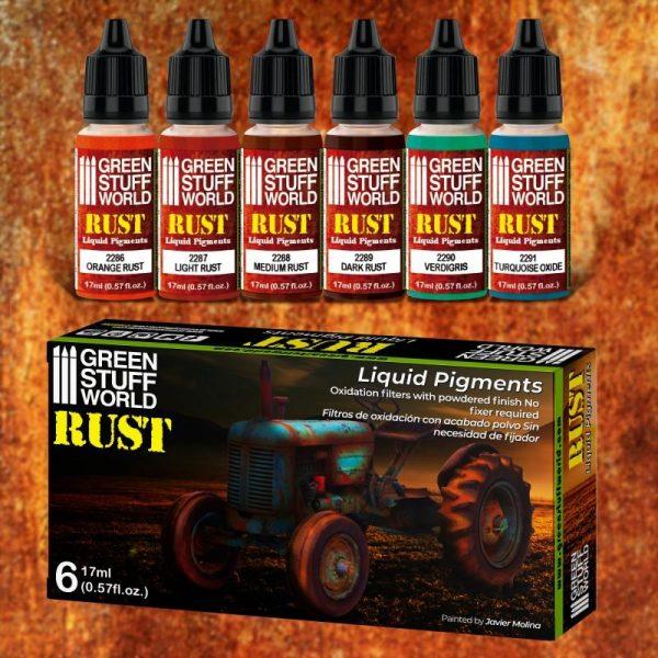 Green Stuff World   Liquid Pigments Liquid Pigments Set - Rust - 8436574506259ES - 8436574506259