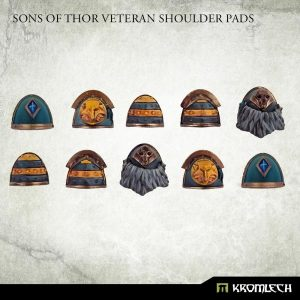 Kromlech   Legionary Conversion Parts Sons of Thor Veteran Shoulder Pads - KRCB280 -
