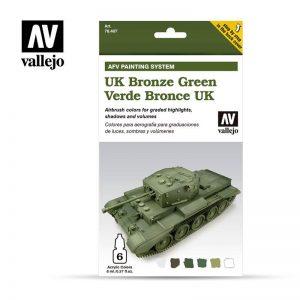 Vallejo   Model Air AV Armour Set - AFV UK Bronze Green - VAL78407 - 8429551784078
