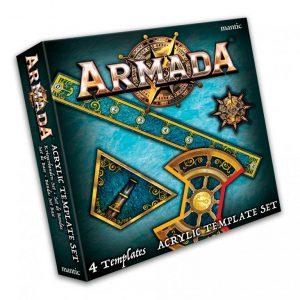 Mantic Kings of War Armada  Kings of War Armada Essentials Armada Acrylic Template set - MGARM105 - 5060469666440